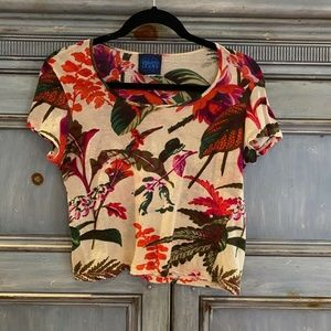 Kenzo Jeans S/S floral top size S